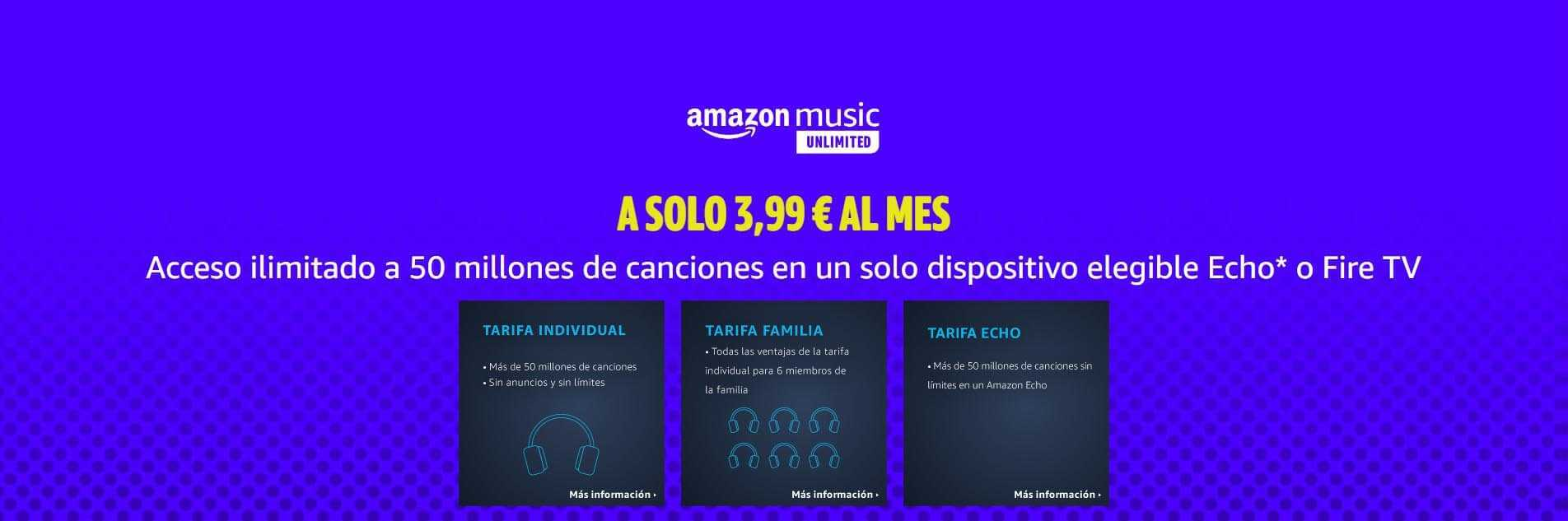 Precio de Amazon Music Unlimited